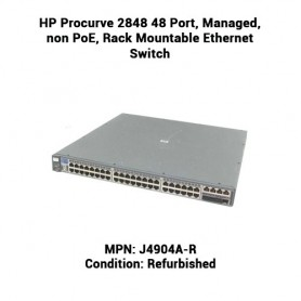 HP Procurve 2848 48 Port, Managed, non PoE, Rack Mountable Ethernet Switch