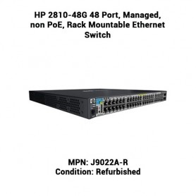 HP 2810-48G 48 Port, Managed, non PoE, Rack Mountable Ethernet Switch