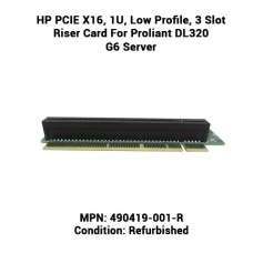 HP PCIE X16, 1U, Low Profile, 3 Slot Riser Card For Proliant DL320 G6 Server