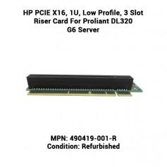 HP PCIE X16, 1U, Low Profile, 3 Slot Riser Card For Proliant DL320 G6 Server