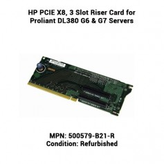 HP PCIE X8, 3 Slot Riser Card for Proliant DL380 G6 & G7 Servers