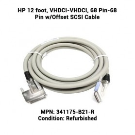 HP 12 foot, VHDCI-VHDCI, 68 Pin-68 Pin w/Offset SCSI Cable