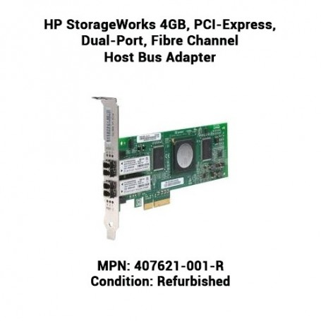 HP StorageWorks 4GB, PCI-Express, Dual-Port, Fibre Channel Host Bus Adapter