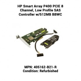 HP Smart Array P400 PCIE 8 Channel, Low Profile SAS Controller w/512MB BBWC