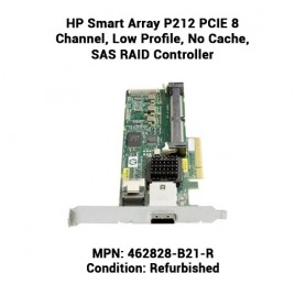 HP Smart Array P212 PCIE 8 Channel, Low Profile, No Cache, SAS RAID Controller