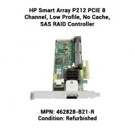 HP Smart Array P212 PCIE 8 Channel, Low Profile, No Cache, SAS RAID Controller