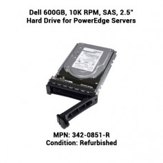"Dell 600GB, 10K RPM, SAS, 2.5"" Hard Drive for PowerEdge Servers"