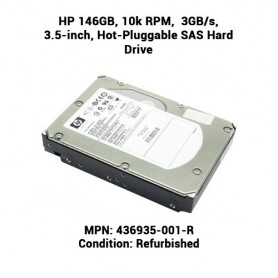 HP 146GB, 10k RPM,  3GB/s, 3.5-inch, Hot-Pluggable SAS Hard Drive