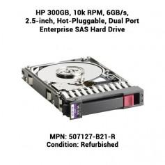 HP 300GB, 10k RPM, 6GB/s, 2.5-inch, Hot-Pluggable, Dual Port Enterprise SAS Hard Drive