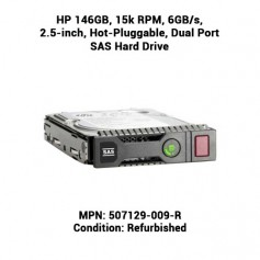 HP 146GB, 15k RPM, 6GB/s, 2.5-inch, Hot-Pluggable, Dual Port SAS Hard Drive