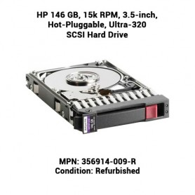 HP 146 GB, 15k RPM, 3.5-inch, Hot-Pluggable, Ultra-320 SCSI Hard Drive