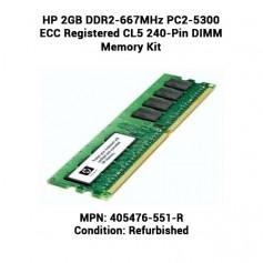 HP 2GB DDR2-667MHz PC2-5300 ECC Registered CL5 240-Pin DIMM Memory Kit