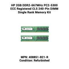 HP 2GB DDR2-667MHz PC2-5300 ECC Registered CL5 240-Pin DIMM Single Rank Memory Kit