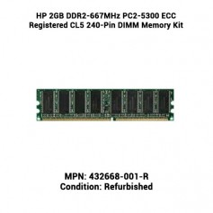 HP 2GB DDR2-667MHz PC2-5300 ECC Registered CL5 240-Pin DIMM Memory Kit