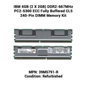 IBM 4GB (2 X 2GB) DDR2-667MHz PC2-5300 ECC Fully Buffered CL5 240-Pin DIMM Memory Kit