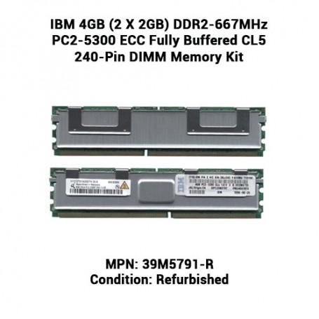 IBM 4GB (2 X 2GB) DDR2-667MHz PC2-5300 ECC Fully Buffered CL5 240-Pin DIMM Memory Kit