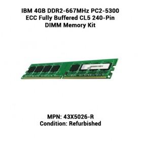 IBM 4GB DDR2-667MHz PC2-5300 ECC Fully Buffered CL5 240-Pin DIMM Memory Kit
