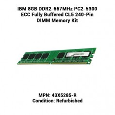 IBM 8GB DDR2-667MHz PC2-5300 ECC Fully Buffered CL5 240-Pin DIMM Memory Kit