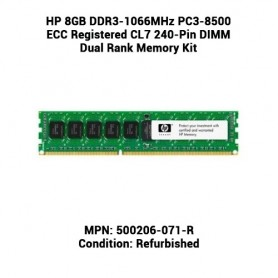 HP 8GB DDR3-1066MHz PC3-8500 ECC Registered CL7 240-Pin DIMM Dual Rank Memory Kit