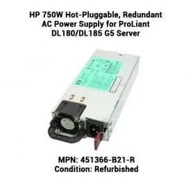 HP 750W Hot-Pluggable, Redundant AC Power Supply for ProLiant DL180/DL185 G5 Server