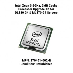 Intel Xeon 3.6GHz, 2MB Cache Processor Upgrade Kit for DL380 G4 & ML370 G4 Servers