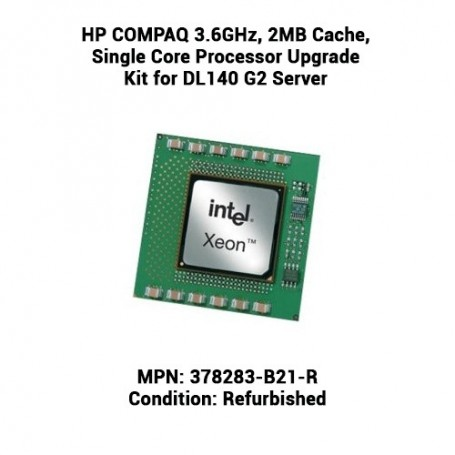 HP COMPAQ 3.6GHz, 2MB Cache, Single Core Processor Upgrade Kit for DL140 G2 Server