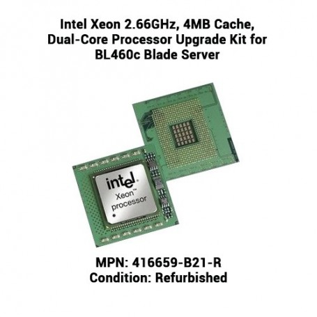 Intel Xeon 2.66GHz, 4MB Cache, Dual-Core Processor Upgrade Kit for BL460c Blade Server