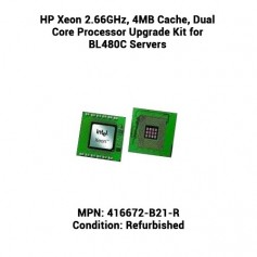 HP Xeon 2.66GHz, 4MB Cache, Dual Core Processor Upgrade Kit for BL480C Servers