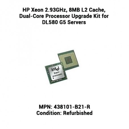 HP Xeon 2.93GHz, 8MB L2 Cache, Dual-Core Processor Upgrade Kit for DL580 G5 Servers