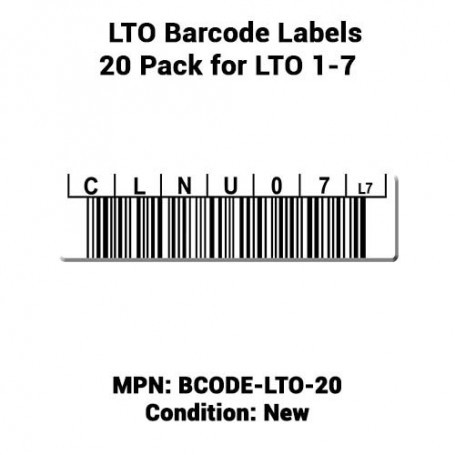 LTO Barcode Labels 20 Pack for LTO 1-7