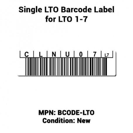 Single LTO Barcode Label for LTO 1-7