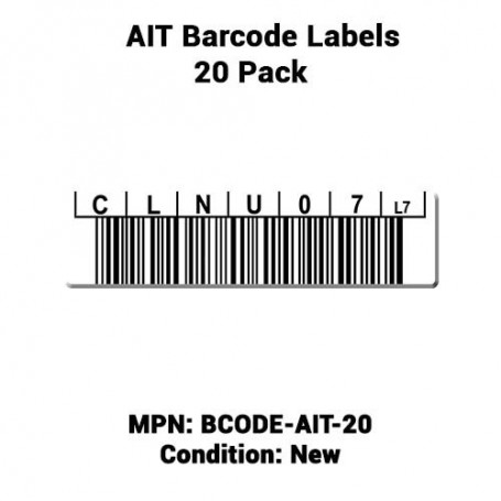 AIT Barcode Labels 20 Pack