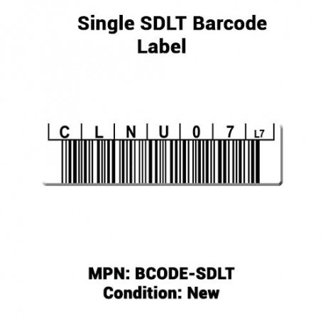Single SDLT Barcode Label