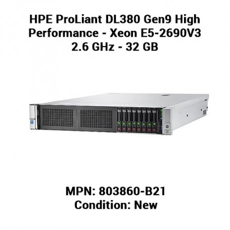 HPE ProLiant DL380 Gen9 High Performance - Xeon E5-2690V3 2.6 GHz - 32 GB