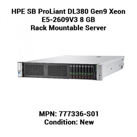 HPE SB ProLiant DL380 Gen9 Xeon E5-2609V3 8 GB Rack Mountable Server