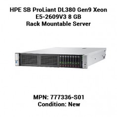 HPE SB ProLiant DL380 Gen9 Xeon E5-2609V3 8 GB Rack Mountable Server