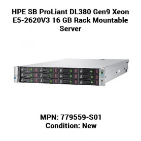 HPE SB ProLiant DL380 Gen9 Xeon E5-2620V3 16 GB Rack Mountable Server