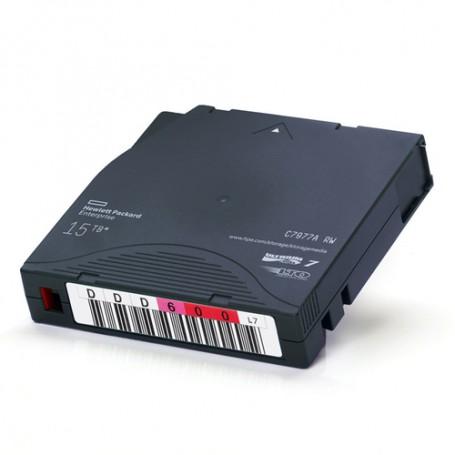 HP LTO, Ultrium-7, C7977AN, 7A, 6TB/15TB, Non-Custom Labeled, TAA