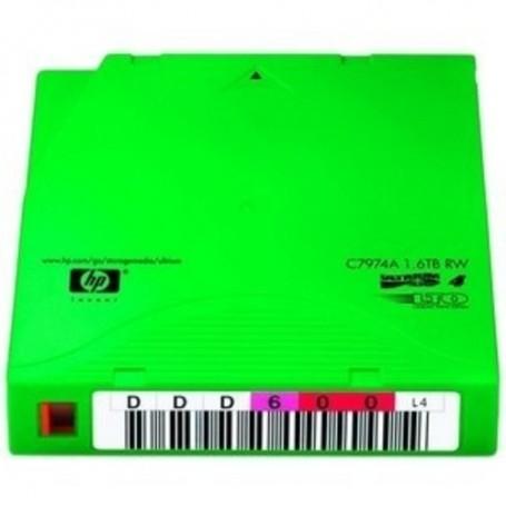 HP LTO, Ultrium-4, C7974AN, 7A, 800GB/1.6TB, Non-Custom Labeled, TAA