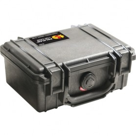 Pelican Case with Foam, 1120-000-110, Guard Box, Pick and Pluck, 7.25X4.75X3.06, Black