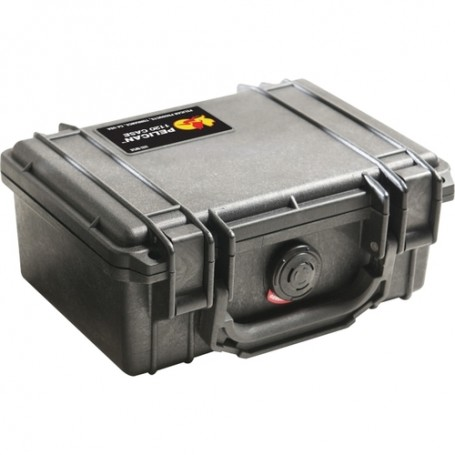 Pelican Case with Foam, 1120-000-110, Guard Box, Pick and Pluck, 7.25X4.75X3.06, Black
