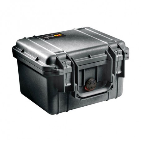 Pelican Case with Foam, 1300-000-110, Military Grade, Pick and Pluck, 9.17x7x6.12, Black