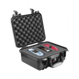 Pelican Case with Foam, 1400-000-110, Military Grade, Pick and Pluck,11.81x8.87x5.18, Black