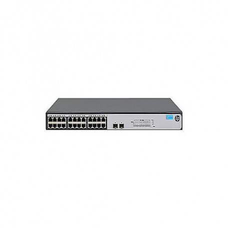 HPE 1420-24G-2SFP Switch - switch - 24 ports - unmanaged - rack-mountable