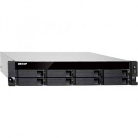 QNAP Turbo NAS SAN/NAS Storage System - AMD R-Series RX-421ND Quad-core 2.10 GHz - 8 x HDD Supported - 8 GB RAM DDR4 SDRAM