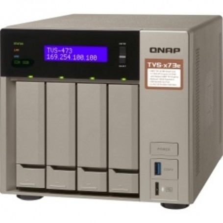 QNAP Powerful NAS with AMD R-Series RX-421BD  2.10 GHz - 4 x HDD Supported - 6 x SSD Supported - 4 GB RAM DDR4 SDRAM