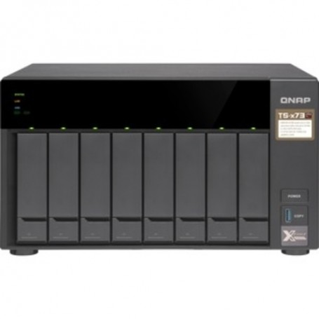 QNAP TS-873 SAN/NAS Storage System - AMD R-Series RX-421ND Quad-core (4 Core) 2.10 GHz