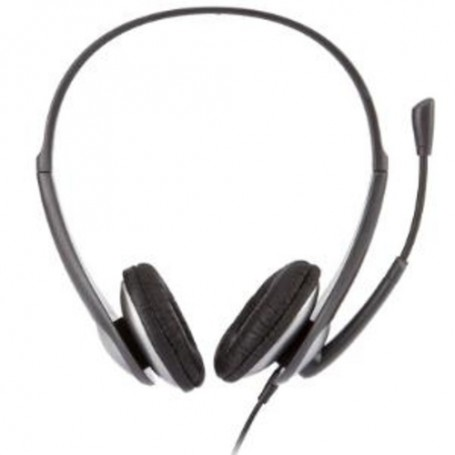 Cyber Acoustics Speech Recognition Stereo Headset and Boom Mic - Wired Connectivity - Stereo - Over-the-head - Silver