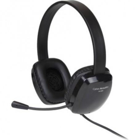 Cyber Acoustics Stereo Headset w/ Single Plug - Stereo - Mini-phone - Wired - 20 Hz - 20 kHz